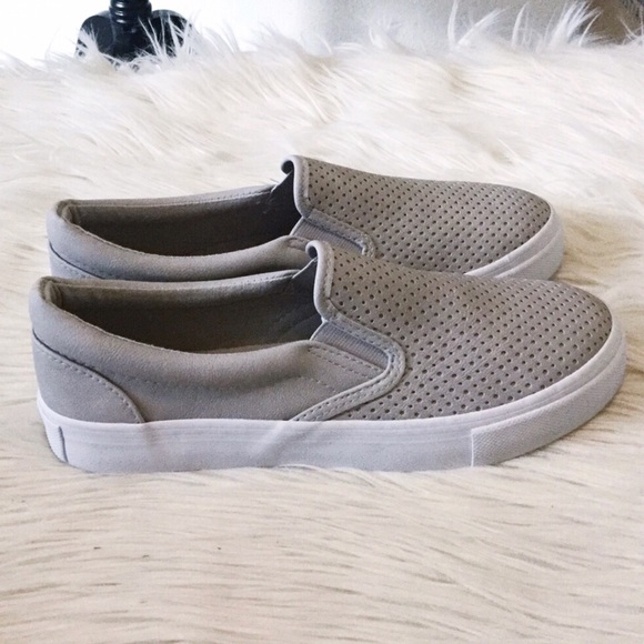 Shoes - Perforated Slip-On Sneakers